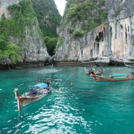 Koh PhiPhi long tail boats